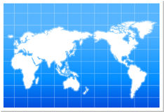 World Map. With blue background in aqua style Stock Image