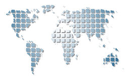 World map. To see similar please visit my gallery Royalty Free Stock Photography