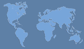 World map. A world map vector illustration