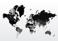 World map. Vector illustration background Stock Image