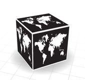 World map. Vector illustration of world map cube Royalty Free Stock Images