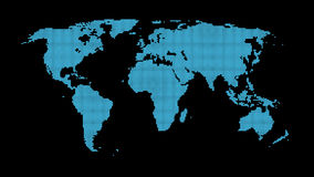 World Map abstract. A map of the World made from uniform blue dots Royalty Free Stock Photos