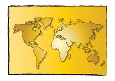 World map abstract Royalty Free Stock Photography