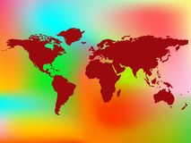 World map and abstract background Royalty Free Stock Photo