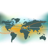 World map with an abstract background Royalty Free Stock Photography