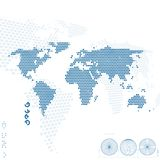 World map. Abstract background. Vector illustration Royalty Free Stock Photography