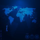 World map. Abstract background. Vector illustration Royalty Free Stock Images