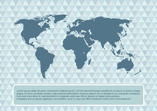 World map on abstract background, vector illustration Stock Photography