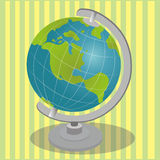 World map. On abstract green background Stock Photos