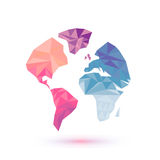 World map abstract,  illustration Stock Photos