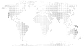 World map. Abstract map of the world made of 3d white boxes Royalty Free Stock Photo
