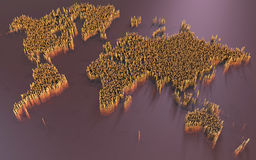 World map, abstract, science fiction Stock Image
