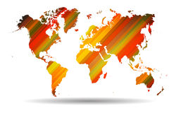 World map with Abstract straight lines background. Stock Photography