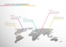 World map. Abstract wmap infographic sample, vector illustration Royalty Free Stock Images