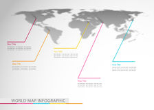 World map. Abstract wmap infographic sample, vector illustration Stock Photography
