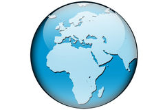 World map africa and europe Stock Photography