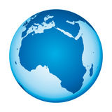 World map. Africa view. Stock Photography