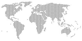 World map. With all continents Royalty Free Stock Photography