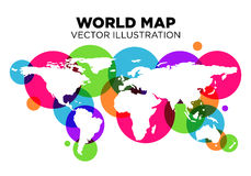 World Map. An amazing world map style for your business stock illustration