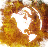 World map - America map Royalty Free Stock Photo