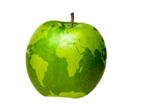 World Map Apple Stock Photo