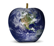 World map apple environment Royalty Free Stock Photography
