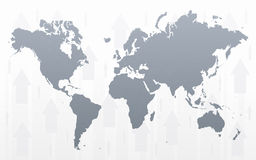 World map arrowed background Royalty Free Stock Photo