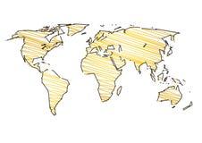 World map art stock illustration