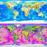 World map artistic backgrounds Stock Photos