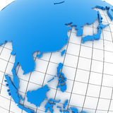 World map - Asia Stock Photography