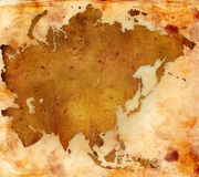 World map - asia map Royalty Free Stock Photography