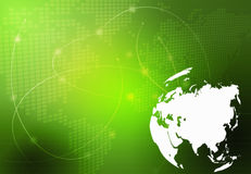 World map - Asia map. Asia map-technology-style artwork Royalty Free Stock Image