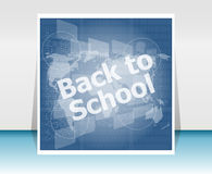 World map with back to school words, education concept Stock Photography