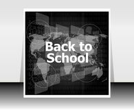 World map with back to school words, education Stock Image