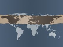 World Map Background Royalty Free Stock Photos