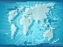 World map background royalty free illustration