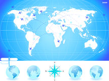World Map Background Stock Photo