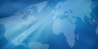 World map background. Blue world map background Stock Image