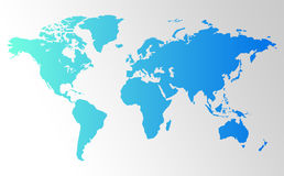 World Map Background. Clean background for every presentation, high resolution, perfect detail work Royalty Free Stock Photo
