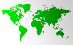 World Map Background. Clean background for every presentation, high resolution, perfect detail work Royalty Free Stock Image