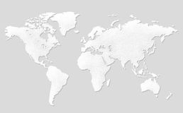 World Map Background. Clean background for every presentation, high resolution, perfect detail work Royalty Free Stock Images