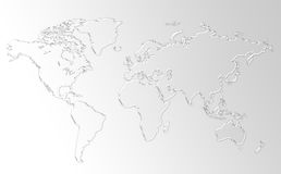 World Map Background. Clean background for every presentation, high resolution, perfect detail work Royalty Free Stock Photos