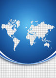 World map background concept Stock Images