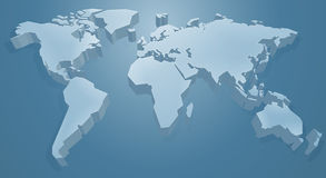 World Map Background. A 3d blue world map background concept Stock Photography