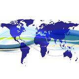 World map background illustration Royalty Free Stock Photo