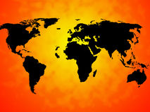 World Map Background Means International Oceans Or Global Map Stock Photo