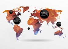 World map background Stock Images