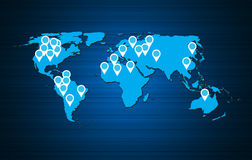 World map background vector illustration Stock Photos
