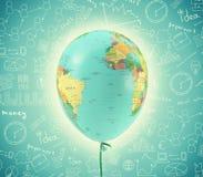 World map in balloon shape Stock Photos