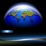 World map banner Stock Photography